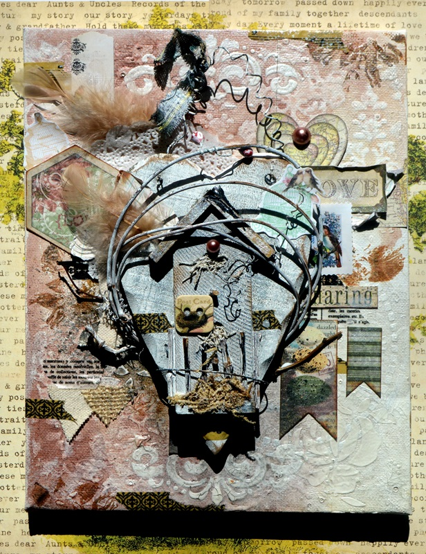 MESSY_NEST_MIXEDMEDIA_ALTERED_CANVAS_AGNIESZKA_BELLAIDEA_BOBUNNY_01