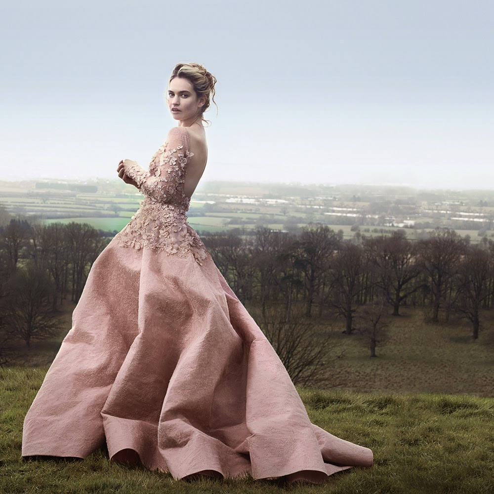 Lily James - David Slijper Photoshoot for Town & Country Magazine UK
