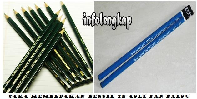 perbedaan pensil 2b asli dan palsu