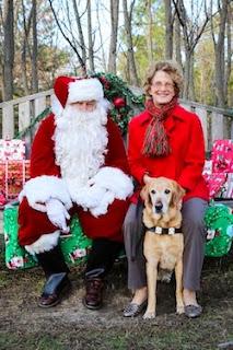 Ann and Brego visit Santa