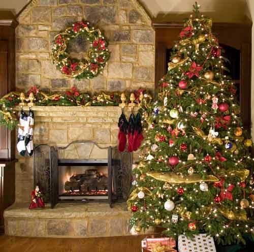 imagen de bellos arboles navideños