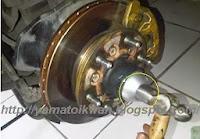 Bendix dan Rotor Yang sudah Terpasang