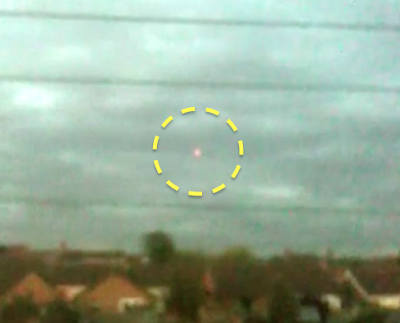 Glowing UFO Hovering Above England, UFO Sighting News