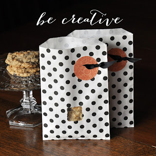 paper punches on paper bags on the Creative Bag blog