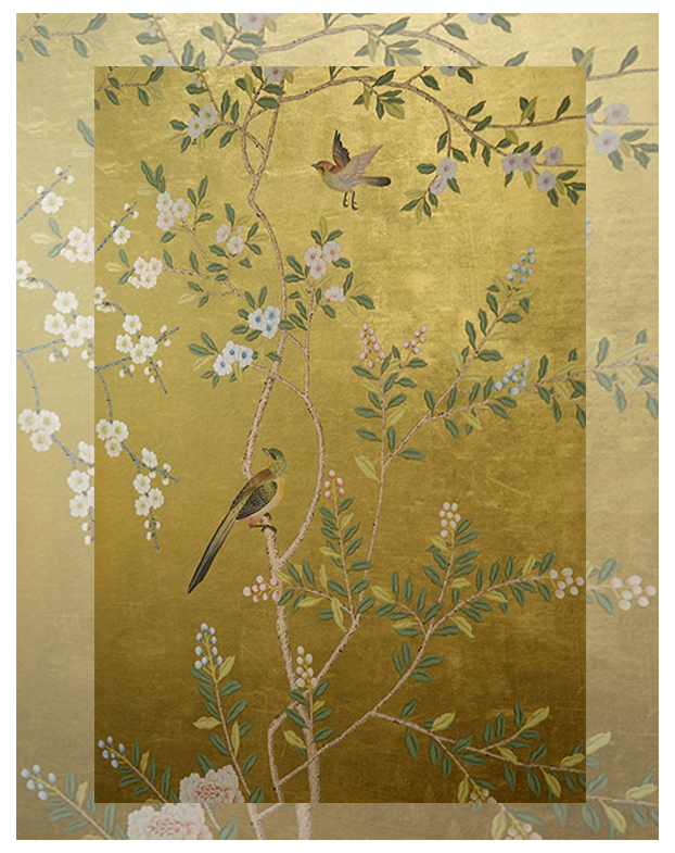 Chinoiserie  gold wallpaper
