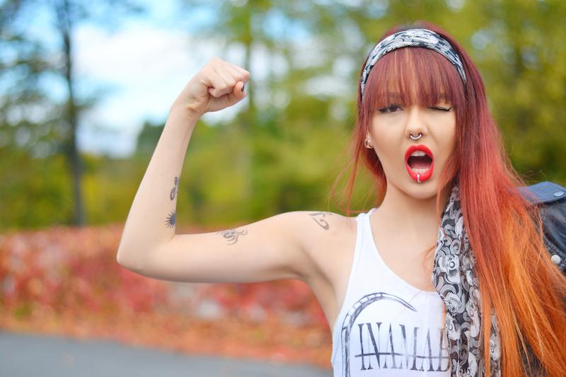 Halloween_Verkleidung_Kostüm_Make_Up_rocker_braut_girl_last_minute_günstig