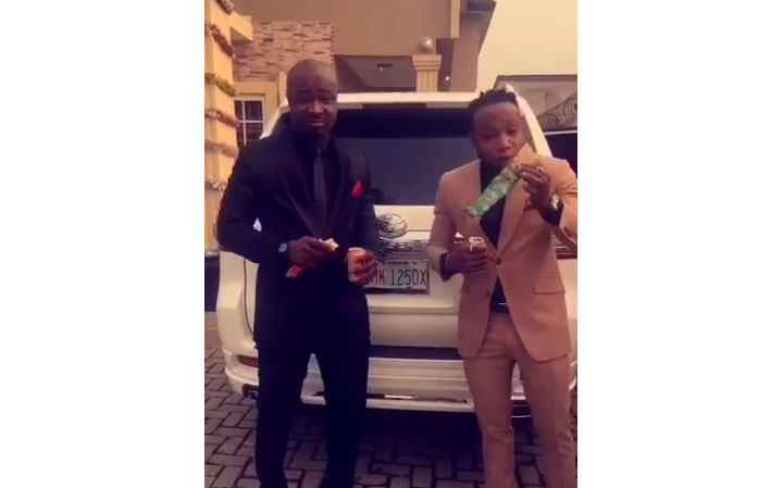 Gala Ambassador Harrysong And Singer Kcee Promote Sausage, Says Gala Is The New Balanced Diet (Photos + Video)