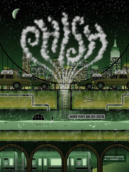 Phish: official 12/28-12/31 Poster (green edition)