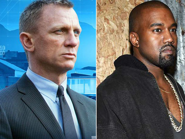 Daniel Craig and  Kanye West