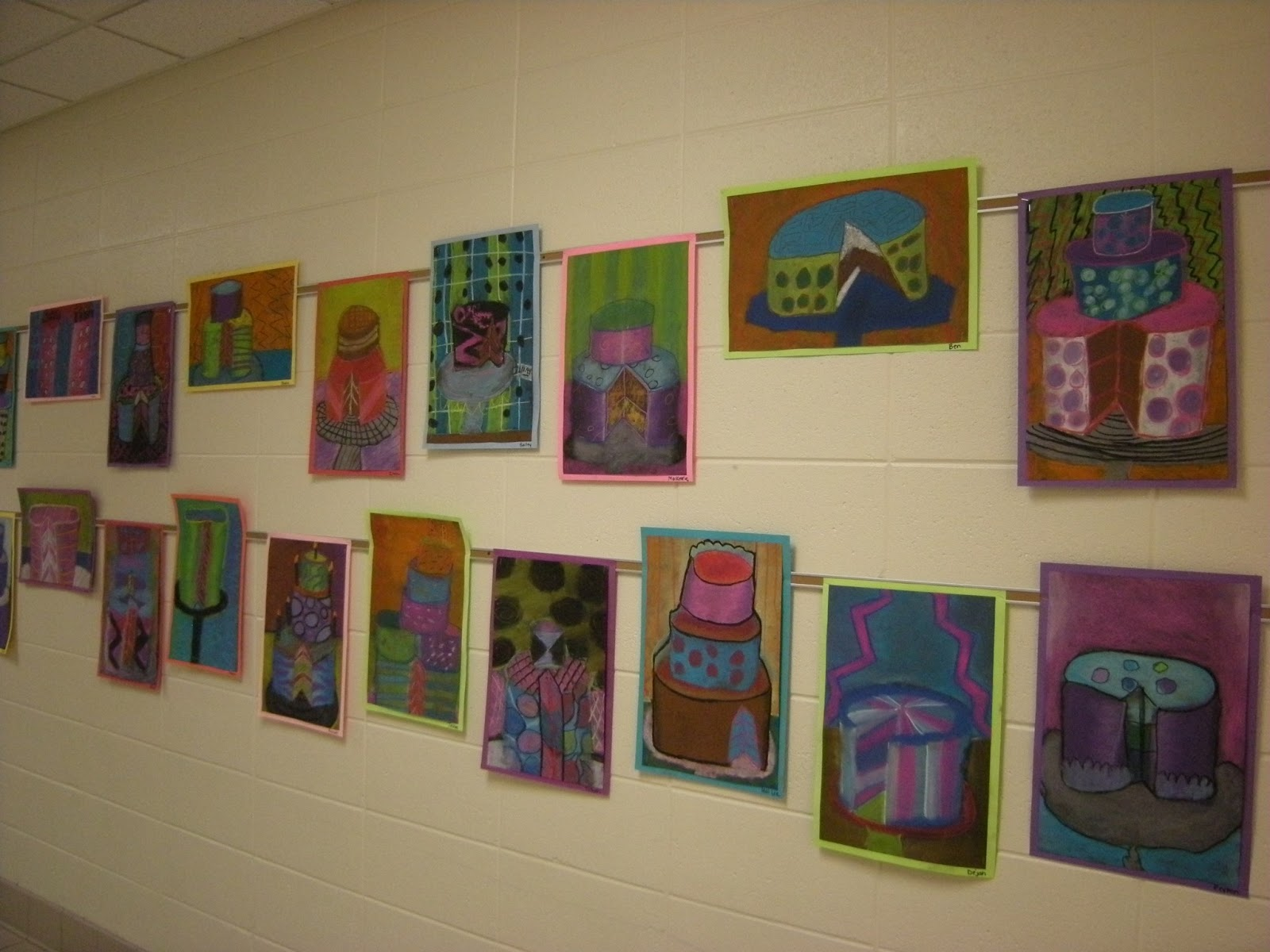 Cake Room Art : WHAT S HAPPENING IN THE ART ROOM??: 5th Grade Cakes