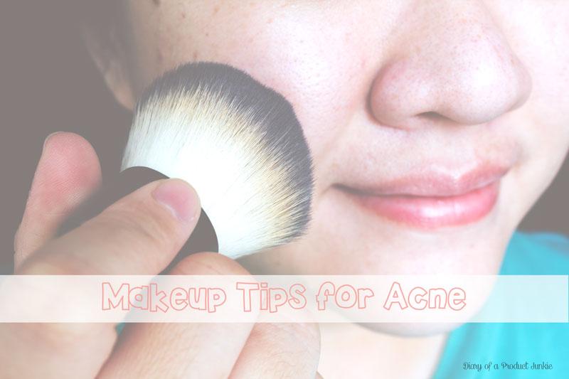 Girl applying mineral makeup using kabuki brush