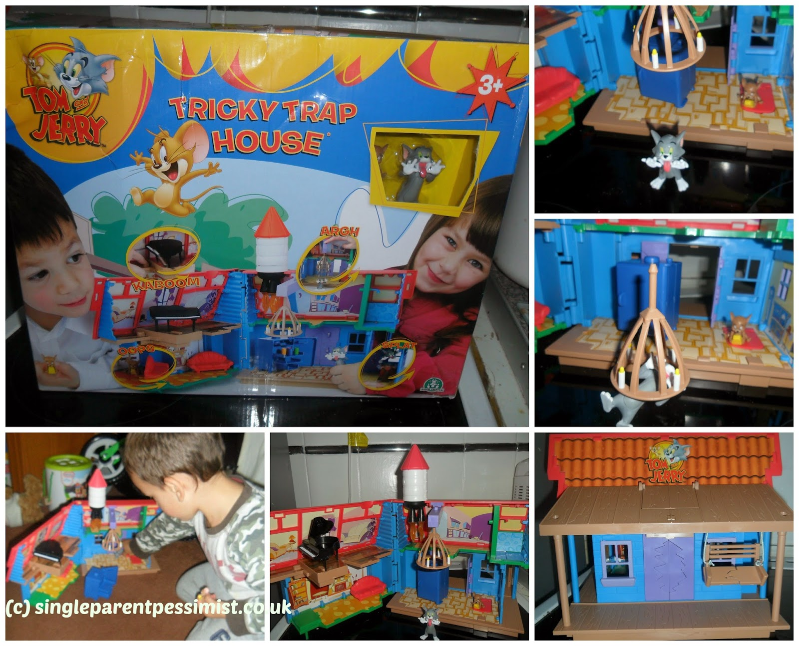 tom & jerry tricky trap house toy review flair