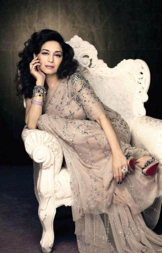 Madhuri Dixit VOGUE Magazine Scan1 - Madhuri Dixit Vogue India August 2011 Scan
