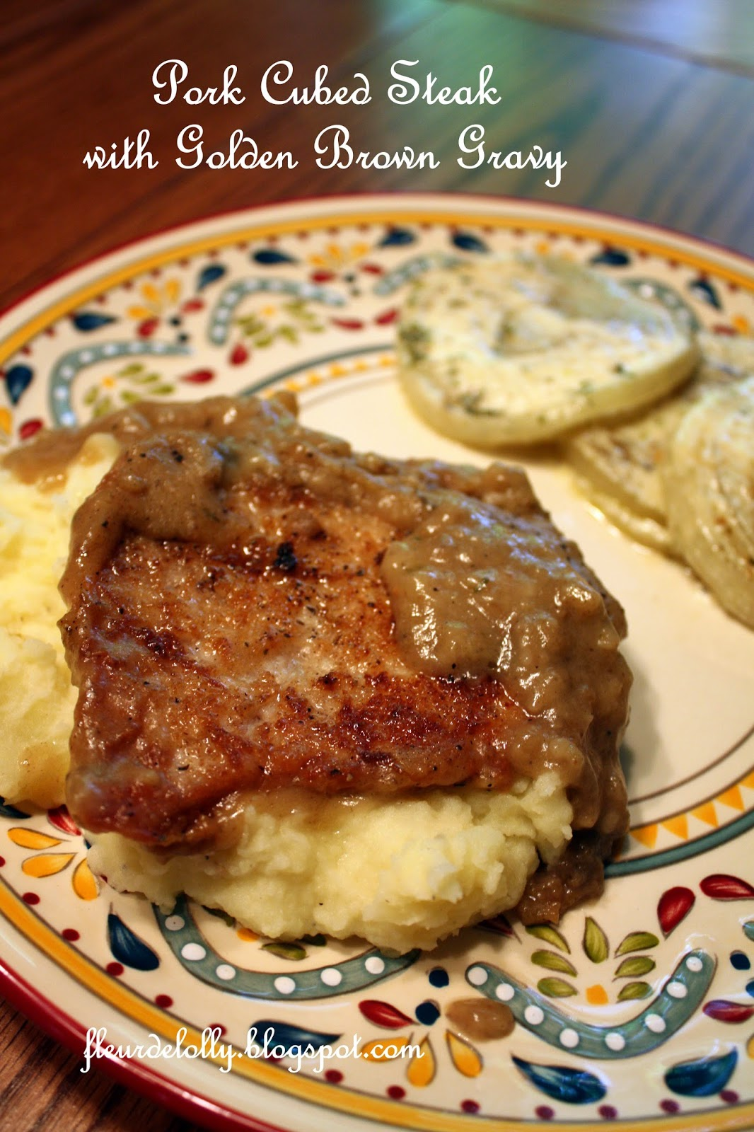 how to cook pork steak with gravy