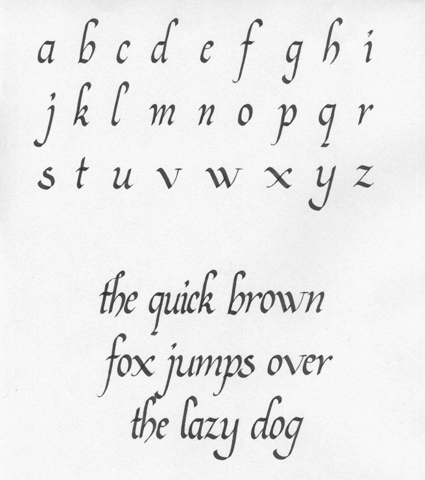 Uncial capitals - Italic Calligraphy