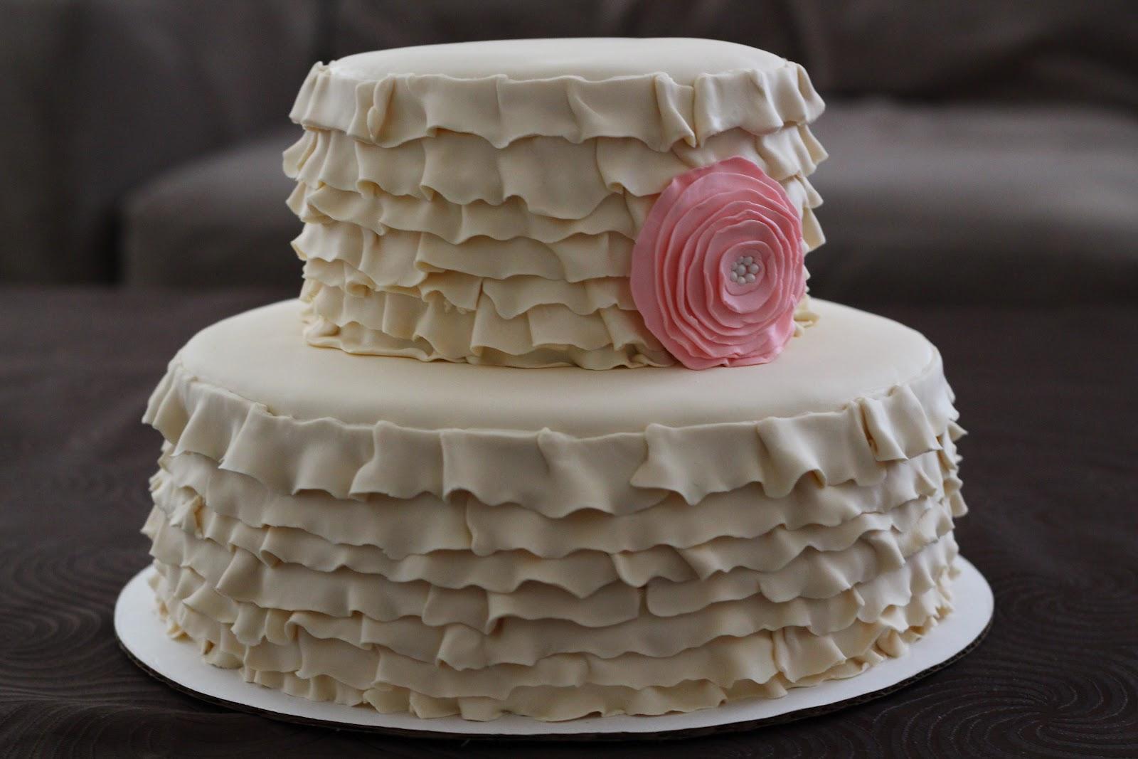 Sweet Cakes Honey Buns Ruffled Baby Shower Cake