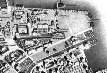 Baur au Lac im Plan von 1847