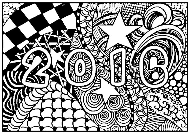 Free New Year 2016 Coloring Pages Adults