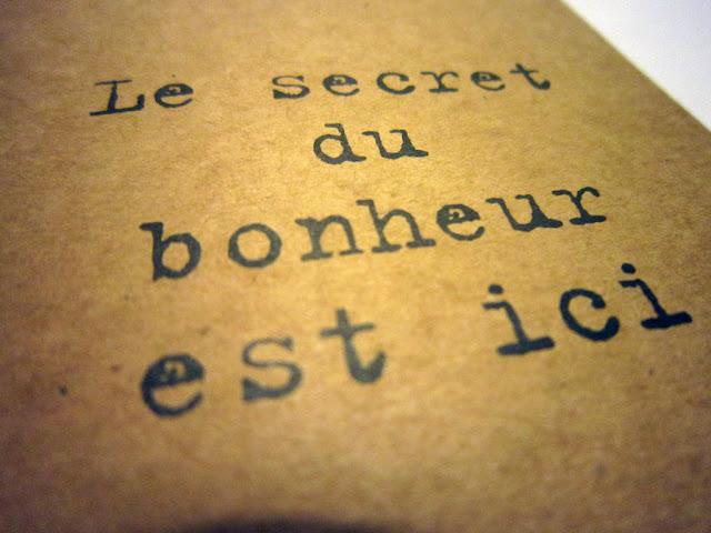 le secret du bonheur my little box