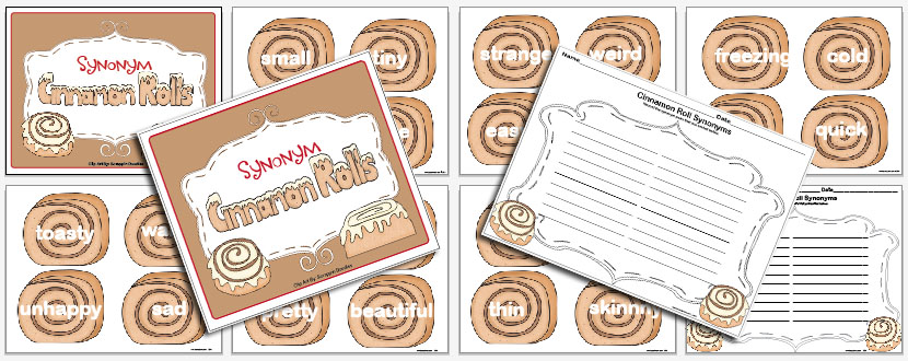 Freebie synonym cinnamon rolls the lesson plan diva for Coute synonyme