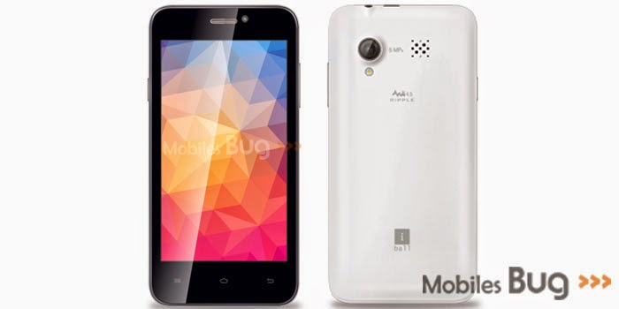 iBall Andi 4.5 Ripple 3G IPS Smartphone; latest price and specifications