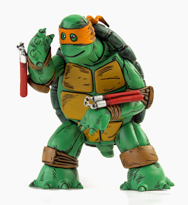"Orange Mask Fully Painted Edition ""The First Turtle"" Teenage Mutant Ninja Turtles Vinyl Figure by Kevin Eastman & Mondo"