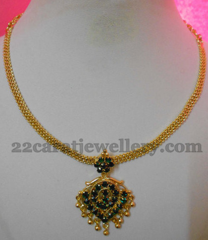 Gold Plated Simple CZ Stones Choker