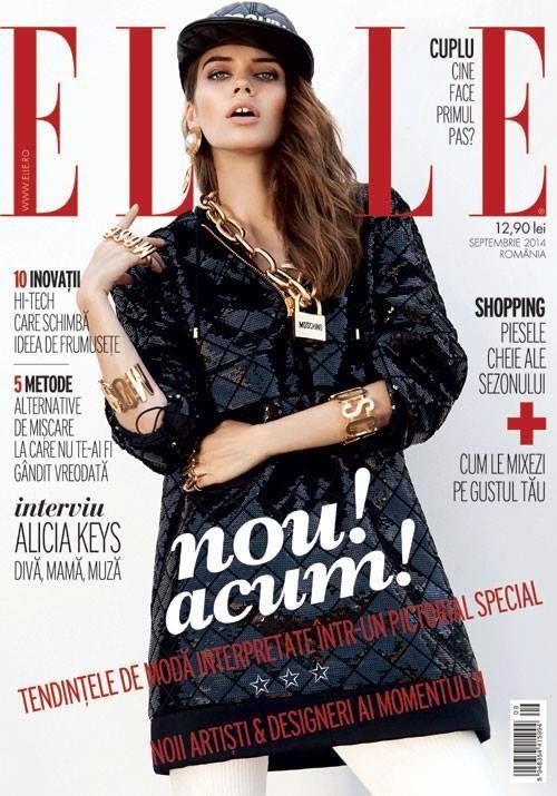 Diana Ionescu - Elle Magazine, Romania, September 2014