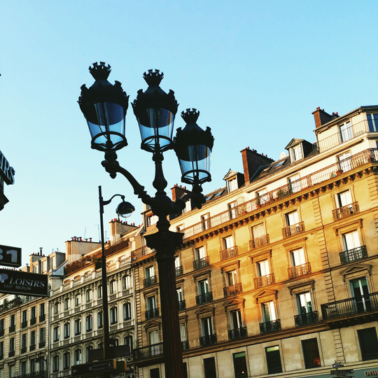Paris street light