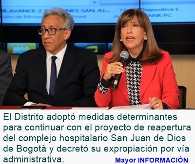 BOGOTÁ: Distrito inicia expropiación del hospital San Juan De Dios