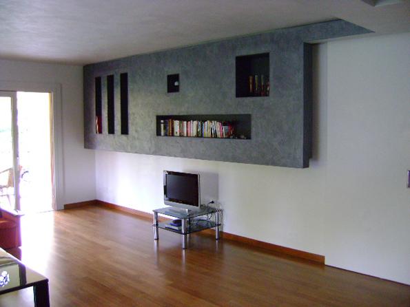 Dipintore decoratore strutture in cartongesso for Pareti sala in cartongesso