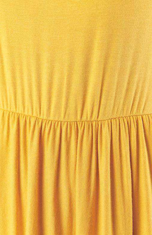 Prudence Midi Skater Dress – Dandelion Yellow