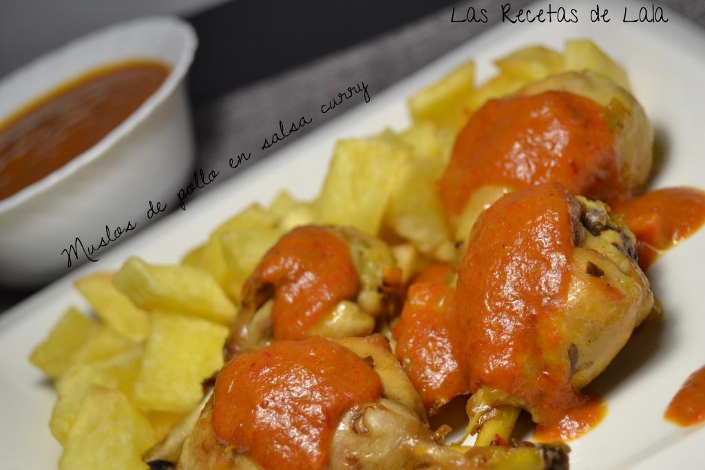 Las recetas de lala muslos de pollo en salsa curry for Muslos pollo en salsa