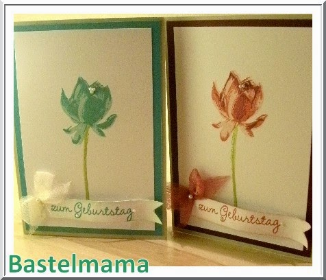 Karten, Geburtstag, Stampin Up, Lotus Blossom