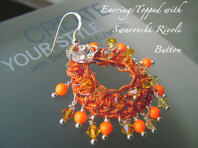 Finished Wire Crochet Earrings