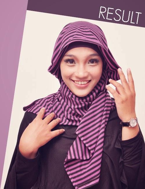 Cara Memakai Jilbab Pashmina Sifon  yang Simple dan Anggun