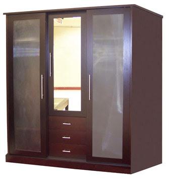 Lemari minimalis kombinasi kaca Sunblas ~ Grand Home Furniture