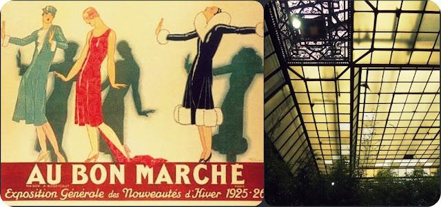 The paris market brocante postcards from paris le bon marche - Le bon marche luminaires ...
