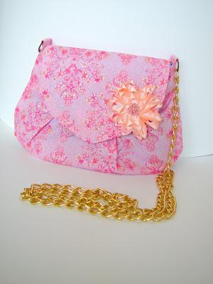 сумочка клатч своими руками, сумочка с цветком, сумка через плечо, клатч из ткани, небольшая сумочка