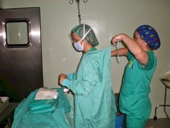 Preparacion del procedimiento quirurgico