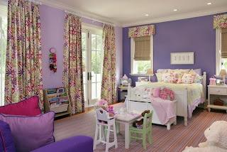 habitación juvenil lila