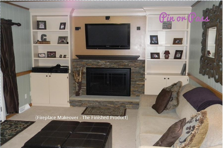 Pin Or Pass A Fireplace Makeover Inspired By Pinterest