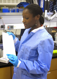 A researcher in the bio lab at Walter Reed Army Institute of Research in Silver Spring, Md.