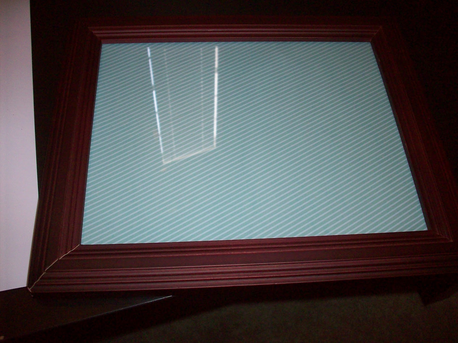 How to put scrapbook back together - Put The Frame Back Together With The Scrapbook Paper As Your Picture