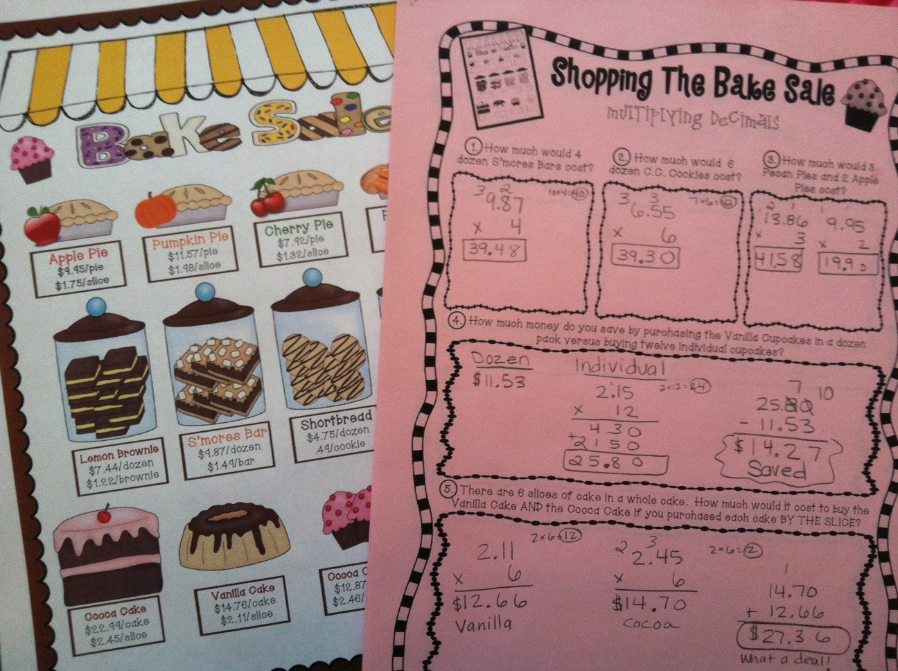 Teaching With a Mountain View Multiplying Decimals – Free Multiplying Decimals Worksheets