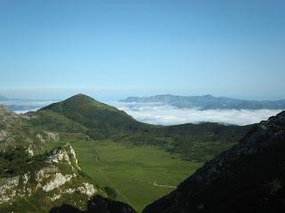 Vista desde uno de los miradores de los lagos de Covadonga