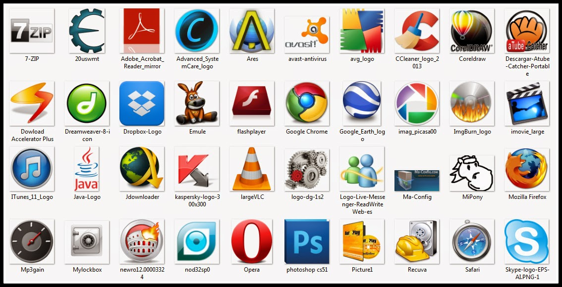 iconos mundo de la computacion
