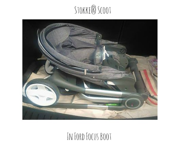 Stokke Scoot in Ford Focus Boot