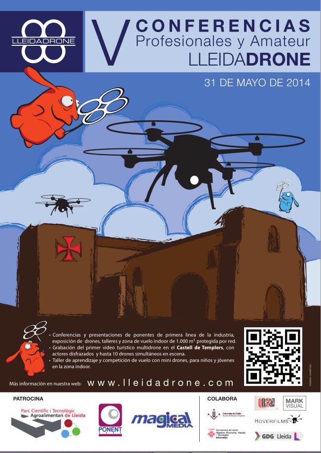 V Conferencias Profesionales Lleida Drone, con toda la información.