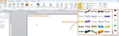 aplikasi Ms word, kemudian posisikan mouse di tempat yang ingin di ...